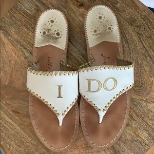 """Gently used """"I Do"""" sandals"""